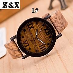 preiswerte Damenuhren-Damen damas Armbanduhr Quartz Armbanduhren für den Alltag Leder Band Analog Retro Streifen Modisch Mehrfarbig - 3 # 4 # 5 #