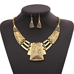 tanie Naszyjniki-Damskie Geometric Shape Modny Zestawy biżuterii Oświadczenie Naszyjniki Zestawy biżuterii Oświadczenie Naszyjniki , Impreza Specjalne