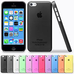 Недорогие Кейсы для iPhone 5с-Кейс для Назначение iPhone 5c Кейс на заднюю панель Твердый ПК для