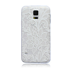 voordelige Galaxy S4 Mini Hoesjes / covers-kant bloemen patroon TPU soft Cover Case voor Samsung Galaxy S3 S4 s5 s6 s3mini s4mini s5mini s6 rand