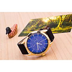 preiswerte Tolle Angebote auf Uhren-Herrn Quartz Kleideruhr Armbanduhren für den Alltag Leder Band Charme Schwarz