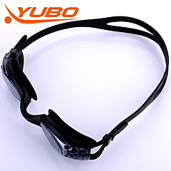 YOBO Unisex Swimming Goggles Light Gray Anti-Fog/Waterproof/Adjustable Size/Anti-UV/Anti-slip Strap PC Silica Gel