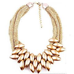 preiswerte Halsketten-Damen Mehrschichtig Statement Ketten / Layered Ketten - Punk, Europäisch, Mehrlagig Gold, Silber, Regenbogen Modische Halsketten Für