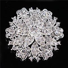 vintage nők tiszta kristály strasszos gyémánt levél esküvői kitűző