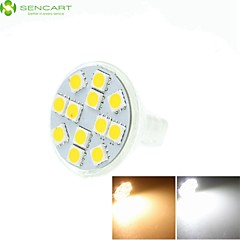 5W GU4(MR11) LED Spotlight MR11 12 SMD 5060 420-500 lm Warm White Cold White Natural White 3500K  6000K 6500K K Dimmable Decorative DC 12