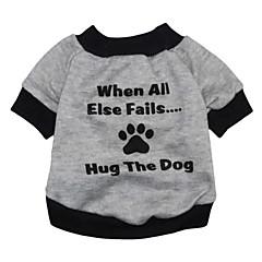 tanie Ubranka i akcesoria dla psów-Kot Pies Bluzy Ubrania dla psów Litera i numer Gray Terylene Kostium Dla zwierząt domowych Męskie Damskie Urocza Modny