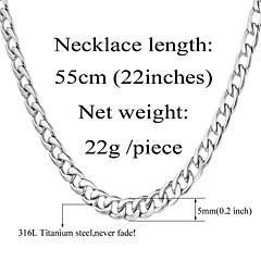 preiswerte Halsketten-Herrn Panzerkette Ketten / Vintage Halskette - Edelstahl, vergoldet Gothic, Modisch Gold, Weiß Modische Halsketten Schmuck Für Hochzeit, Party, Alltag