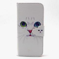 olcso Galaxy S4 Mini tokok-Case Kompatibilitás Samsung Galaxy Samsung Galaxy tok Kártyatartó Pénztárca Állvánnyal Flip Héjtok Cica PU bőr mert S6 edge S6 S5 Mini S5