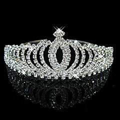 cheap Hair Jewelry-Crystal / Rhinestone Tiaras / Headwear with Floral 1pc Wedding / Special Occasion Headpiece