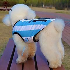 Kissa Koira T-paita Jersey Koiran vaatteet Cosplay Häät Raita Kirjain ja numero Sininen Asu Lemmikit