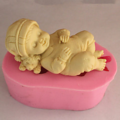 الخبز العفن النوم الطفل لكعكة لكوكي لالفطيرة سيليكون صديقة للبيئة جودة عالية 3D