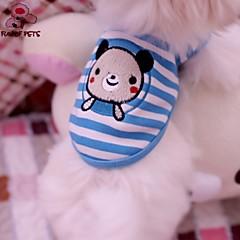 voordelige Hondenkleding & -accessoires-Kat Hond T-shirt Hondenkleding Cosplay Bruiloft Gestreept dier Blauw Kostuum Voor huisdieren