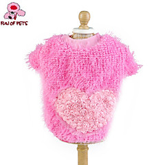 Cat Dog Coat Shirt / T-Shirt Dog Clothes Cosplay Wedding Hearts Yellow Rose Blue Pink Costume For Pets