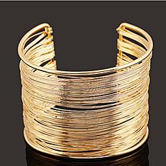 preiswerte Armbänder-Damen Mehrschichtig / Hohl Manschetten-Armbänder / Breites Armband - Einzigartiges Design, Retro, Party Armbänder Gold Für Party / Alltag