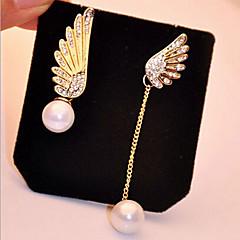 お買い得  イヤリング-女性用 ドロップイヤリング  -  真珠, イミテーションダイヤモンド ゴールド 用途