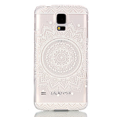 Para Funda Samsung Galaxy Transparente Funda Cubierta Trasera Funda Mandala Policarbonato SamsungS6 edge / S6 / S5 Mini / S5 / S4 Mini /