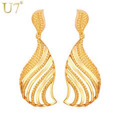 preiswerte Ohrringe-Damen Quaste Tropfen-Ohrringe - vergoldet Blattform Retro, Party, Büro Gold / Silber Für Alltag