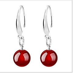 preiswerte Ohrringe-Damen Achat Tropfen-Ohrringe - Sterling Silber Schwarz / Rot Für Hochzeit Party Alltag