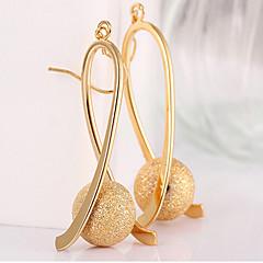 abordables Bijoux pour Femme-Femme Long Perles Boucles d'oreille goutte - Plaqué or Goutte Or Pour