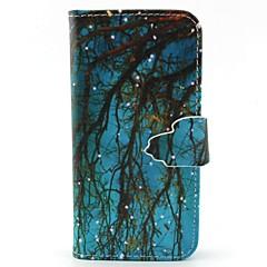 Na Samsung Galaxy Etui Etui na karty / Portfel / Z podpórką / Flip Kılıf Futerał Kılıf Drzewo Skóra PU SamsungS6 edge / S6 / S5 Mini / S5