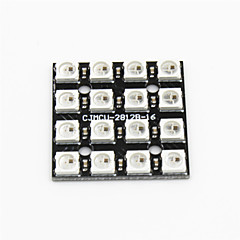 ws2812b 4 x 4 bits RGB LED pleine pilote de couleur 16 bits conseil de développement de module pour Arduino