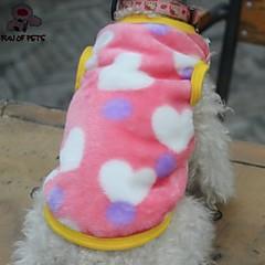 お買い得  猫の服-ネコ 犬 Tシャツ 犬用ウェア ハート ブラック ピンク フリース コスチューム ペット用 コスプレ 結婚式