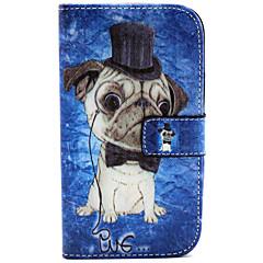 Недорогие Чехлы и кейсы для Galaxy Alpha-Кейс для Назначение SSamsung Galaxy Кейс для  Samsung Galaxy Бумажник для карт Кошелек со стендом Флип Чехол С собакой Кожа PU для Grand