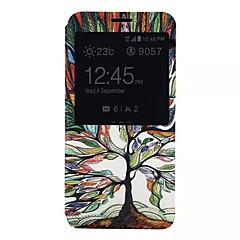 Для Samsung Galaxy Note Чехлы панели со стендом с окошком Чехол Кейс для дерево Искусственная кожа для Samsung Note 5