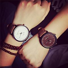 voordelige Horloges voor stellen-Heren Dames Voor Stel Kwarts Vrijetijdshorloge PU Band Vintage Modieus Bruin