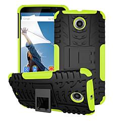 Недорогие Чехлы и кейсы для Motorola-Кейс для Назначение Motorola Кейс для Motorola Защита от удара со стендом Кейс на заднюю панель броня Твердый ПК для