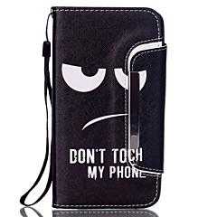 Για Samsung Galaxy Note Θήκη καρτών / Πορτοφόλι / με βάση στήριξης / Ανοιγόμενη tok Πλήρης κάλυψη tok Ασπρόμαυρο Συνθετικό δέρμα Samsung