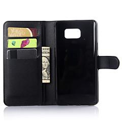 Недорогие Чехлы и кейсы для Galaxy Note Edge-Кейс для Назначение SSamsung Galaxy Samsung Galaxy Note Бумажник для карт Кошелек со стендом Флип Сплошной цвет для