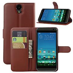Para Capinha HTC Carteira / Porta-Cartão / Com Suporte / Flip Capinha Corpo Inteiro Capinha Cor Única Rígida Couro PU HTC