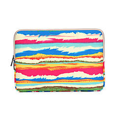 "preiswerte Laptop Taschen-Regenbogen-Streifen Drucke Laptop Abdeckhülsen bebenTasche für MacBook Pro / Pro Retina 13 ""15"" ThinkPad dell Samsung PS"