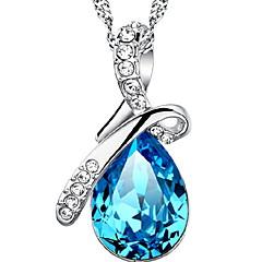 abordables Collares-Mujer Collar vintage - Plata de ley Gota Moda Azul marinero Gargantillas Para Diario, Casual, Deportes