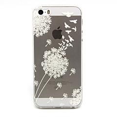 Для Кейс для iPhone 5 Прозрачный Кейс для Задняя крышка Кейс для Одуванчик Мягкий TPU iPhone SE/5s/5