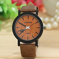 お買い得  メンズ腕時計-男性用 リストウォッチ / 腕時計 ウッド ナイロン バンド 多色