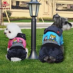 お買い得  犬用ウェア&アクセサリー-猫用品 / 犬用品 コート / パンツ ブルー / ローズピンク 犬用ウェア 冬 漫画 / 縞柄 結婚式 / コスプレ