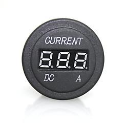 voordelige Meetgereedschap-hoge kwaliteit digitale LED rood licht indicator ammeter voor 12 / 24V auto auto motor meten panel stopcontact