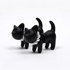 olcso Fülbevalók-Beszúrós fülbevalók Gyöngy Gyöngyutánzat Gyanta Animal Shape Cica Matt fekete Fekete Ékszerek Mert 2pcs