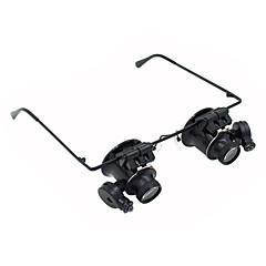 billiga Förstoringsglas-Monokulär Förstoringsglas Högupplöst LED Headset Bred vinkel Generisk Imtät Vädertålig 20 25mm Plast Aluminium Metall