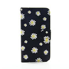 For Samsung Galaxy etui Pung / Kortholder / Med stativ / Flip Etui Heldækkende Etui Blomst Kunstlæder SamsungS6 edge plus / S6 edge / S6