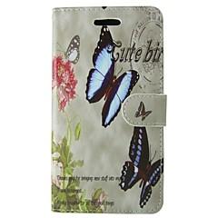 Недорогие Кейсы для iPhone-Кейс для Назначение Apple iPhone 6 iPhone 6 Plus Бумажник для карт Кошелек со стендом Флип Чехол Бабочка Цветы Твердый Кожа PU для iPhone