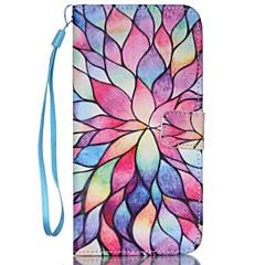 Недорогие Кейсы для iPhone 5-Кейс для Назначение Apple iPhone 8 / iPhone 8 Plus / iPhone 7 Кошелек / Бумажник для карт / со стендом Чехол Цветы Твердый Кожа PU для iPhone 8 Pluss / iPhone 8 / iPhone 7 Plus