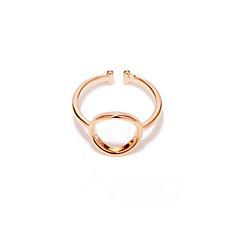 Женский Классические кольца Простой стиль Мода Медь Серебрянное покрытие Позолоченное розовым золотом Бижутерия НазначениеСвадьба Для