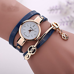 cheap Bracelet Watches-Women's Quartz Bracelet Watch Imitation Diamond Casual Watch PU Band Casual Bohemian Fashion Black White Blue Red