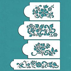 발렌타인 선물 꽃 케이크 장식 케이크 디자인 스텐실, 세인트 (228)