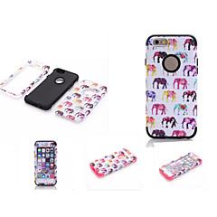 Недорогие Кейсы для iPhone 6-Кейс для Назначение Apple iPhone 6 iPhone 6 Plus Защита от влаги Защита от пыли Защита от удара Чехол Слон Мягкий Силикон для iPhone 6s