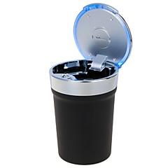 universele draagbare cup stijl geleid asbak voor het gebruik van de auto (1 x CR2032)