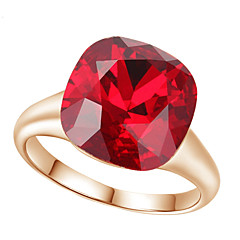 お買い得  指輪-女性用 クリスタル ステートメントリング - イミテーションダイヤモンド, 合金 ぜいたく, ファッション ワンサイズ レッド / ライトブラウン 用途 結婚式 / パーティー